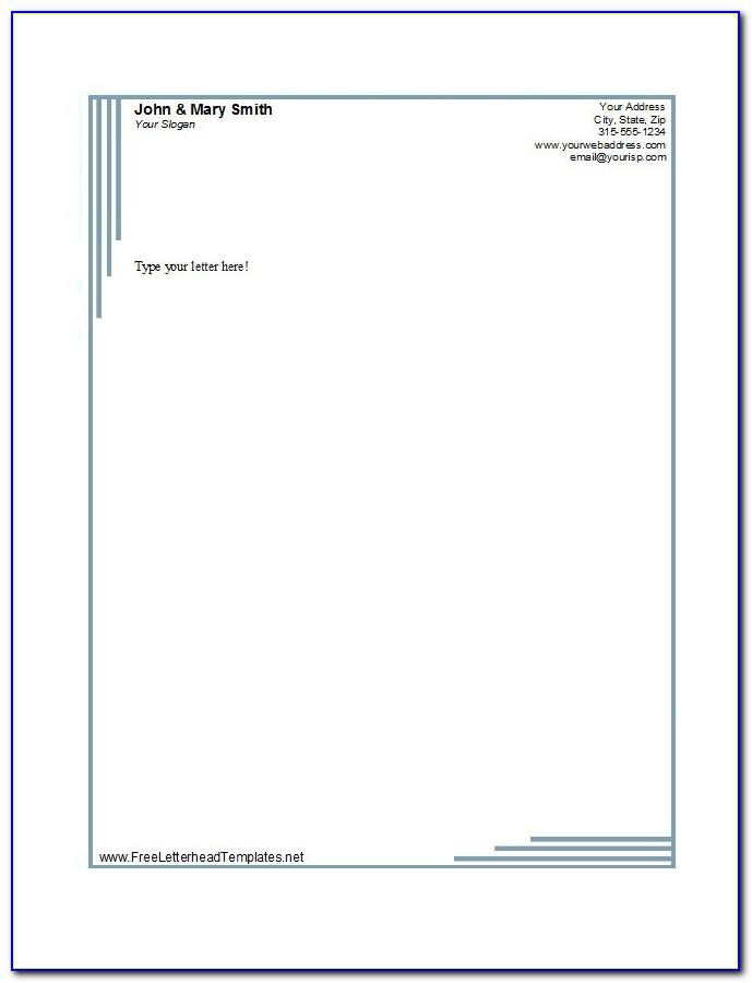 Free Templates For Letterhead Design