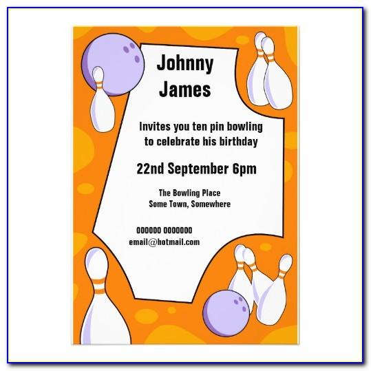 Free Ten Pin Bowling Invitation Templates