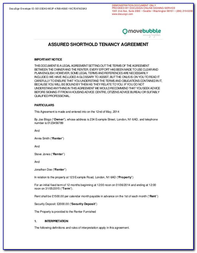 Free Tenancy Agreement Template Ireland