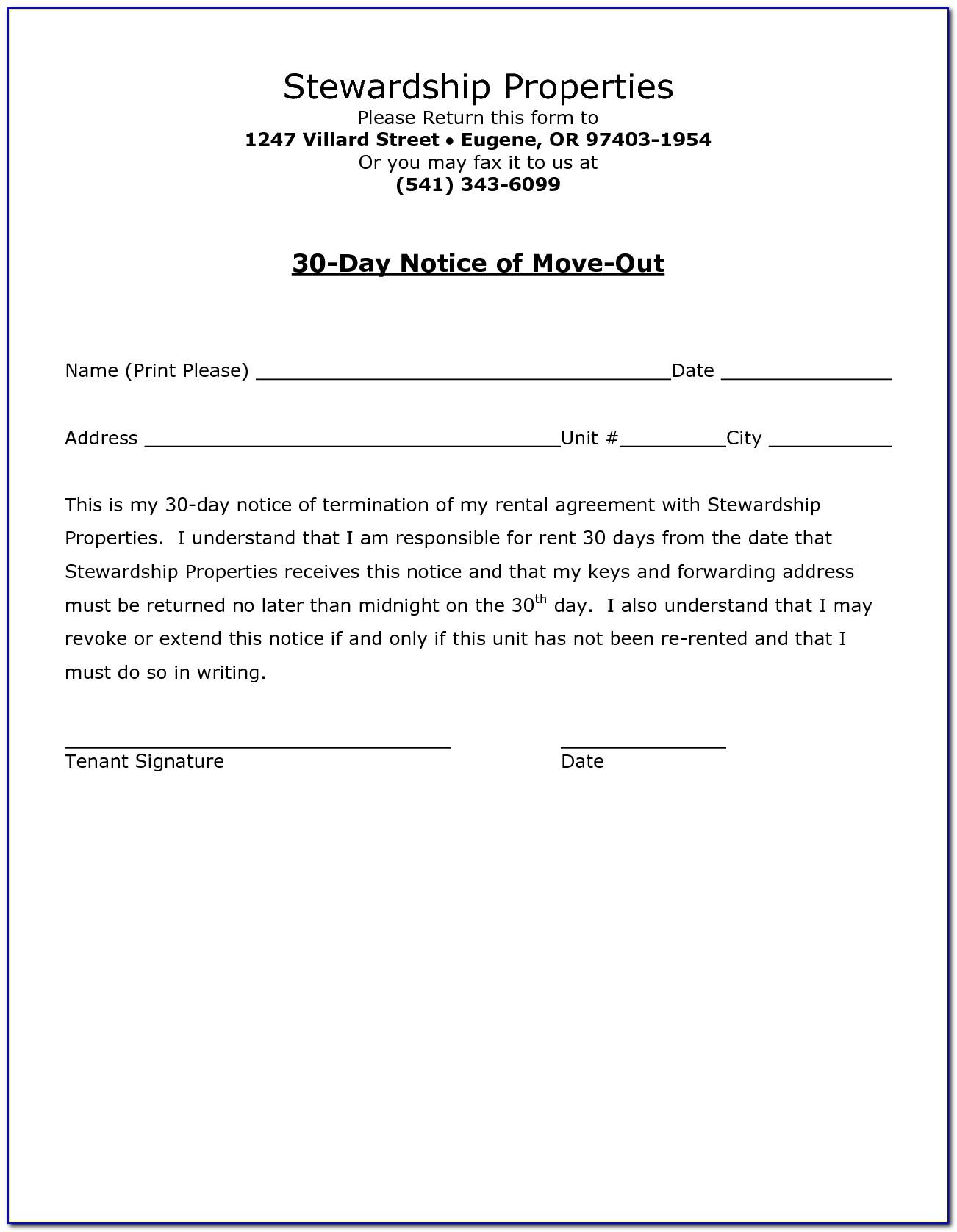 Free Tenant Check Out Form Template