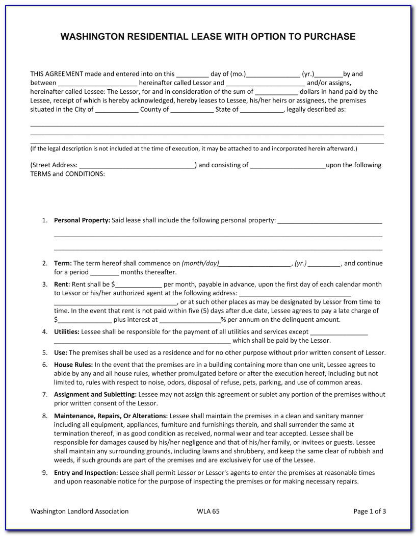 Free Texas Lease Agreement Template