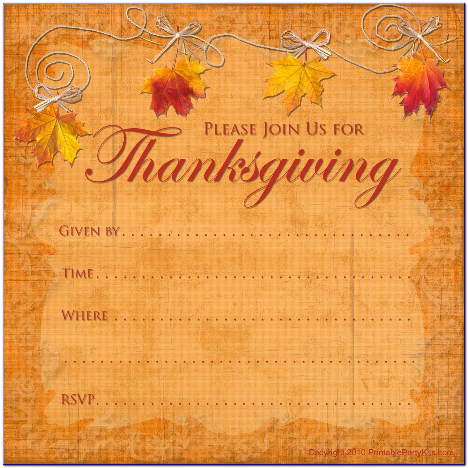 Free Thanksgiving Flyer Template Microsoft