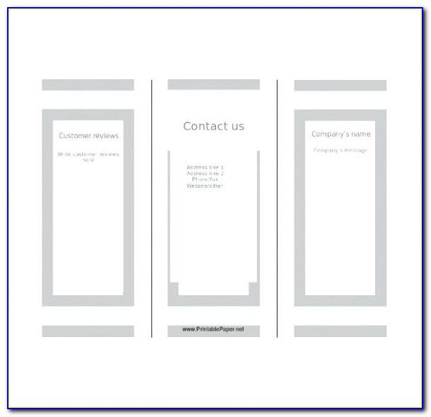 Free Tri Fold Brochure Templates Microsoft Word