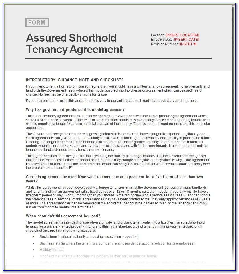 Gov.uk Tenancy Agreement Form