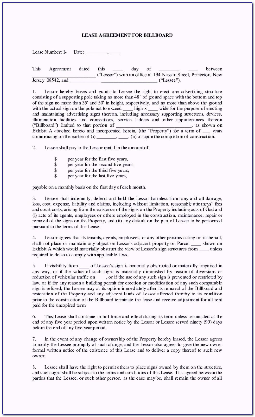 Land Rental Agreement Template Uk Free