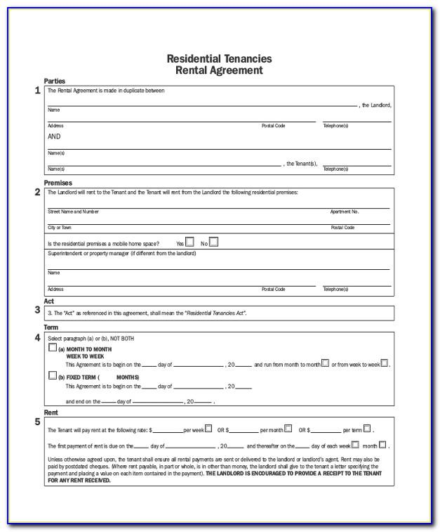 Landlord Tenant Agreement Form Saskatchewan