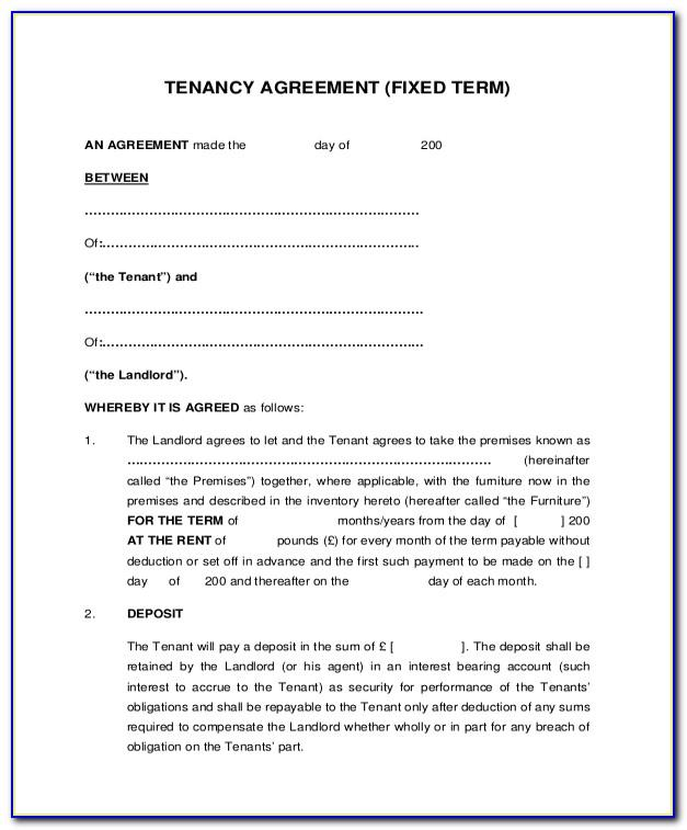 Landlord Tenant Agreement Forms Ontario