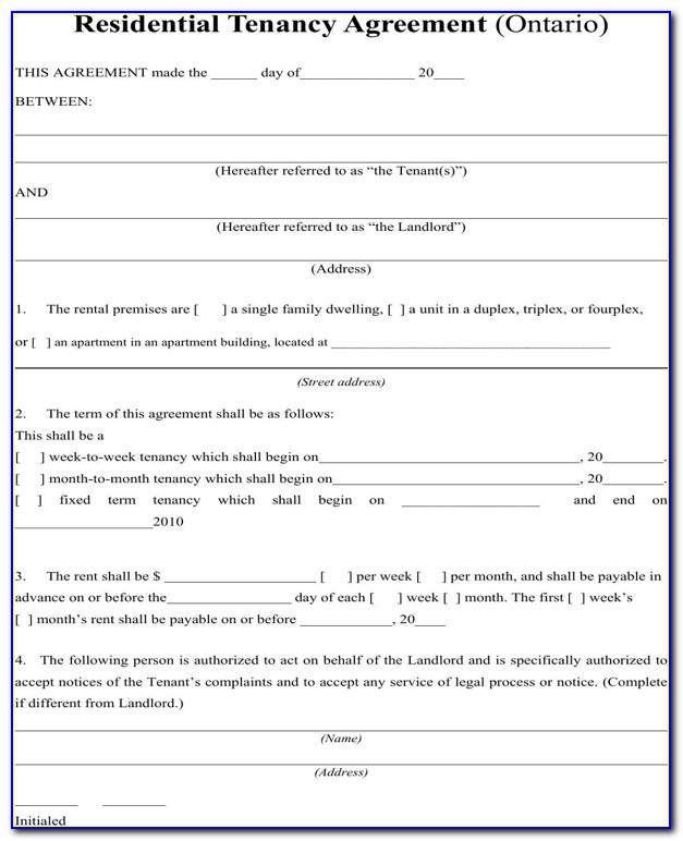 Landlord Tenant Agreement Template Ireland