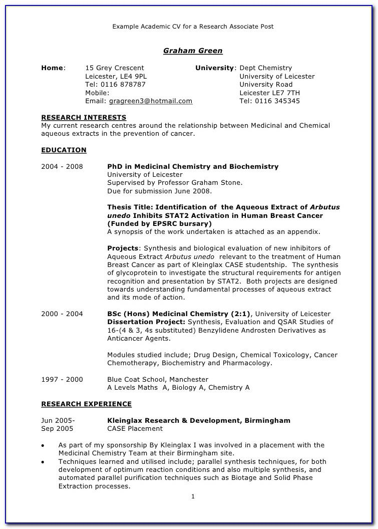 Latex Template Academic Curriculum Vitae