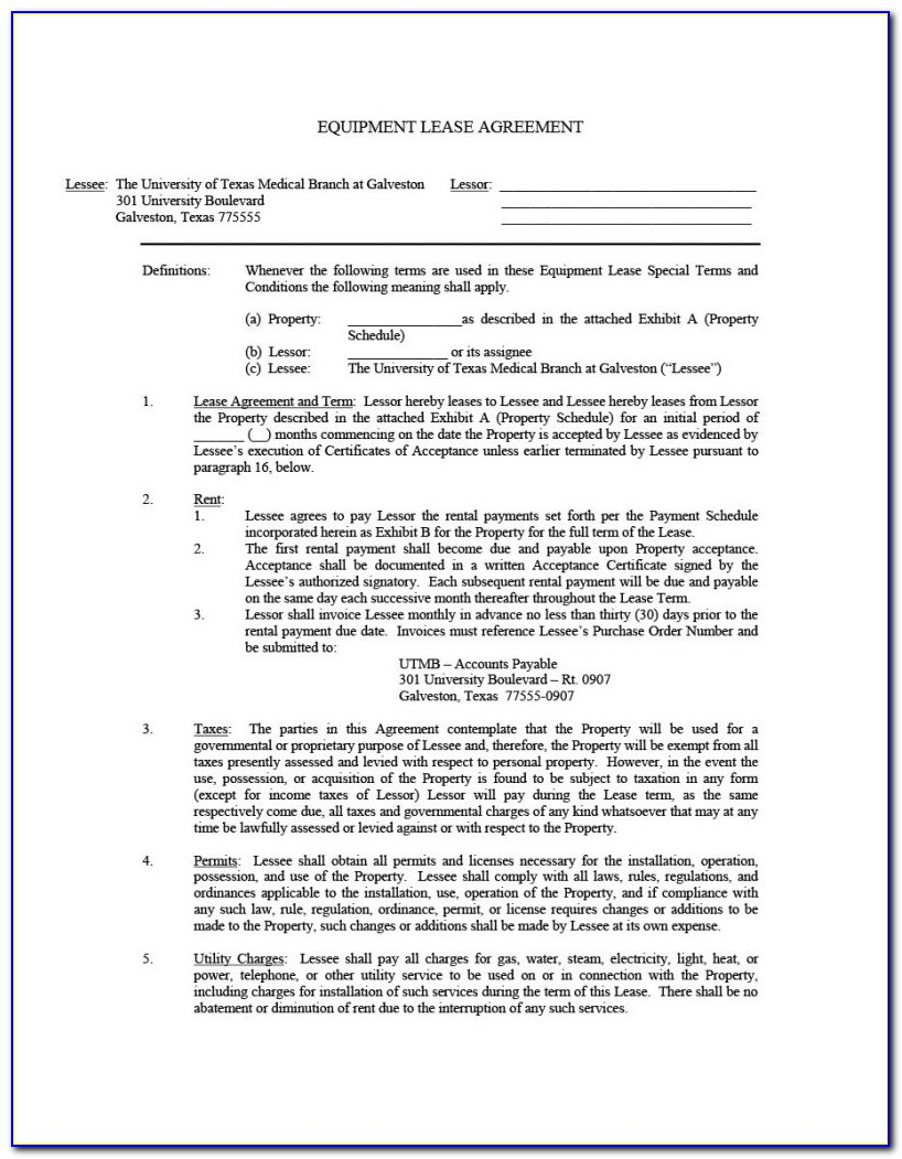 Lease Agreement Template South Africa Doc
