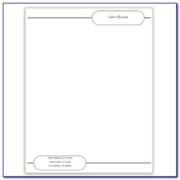 Letterhead Templates For Microsoft Word