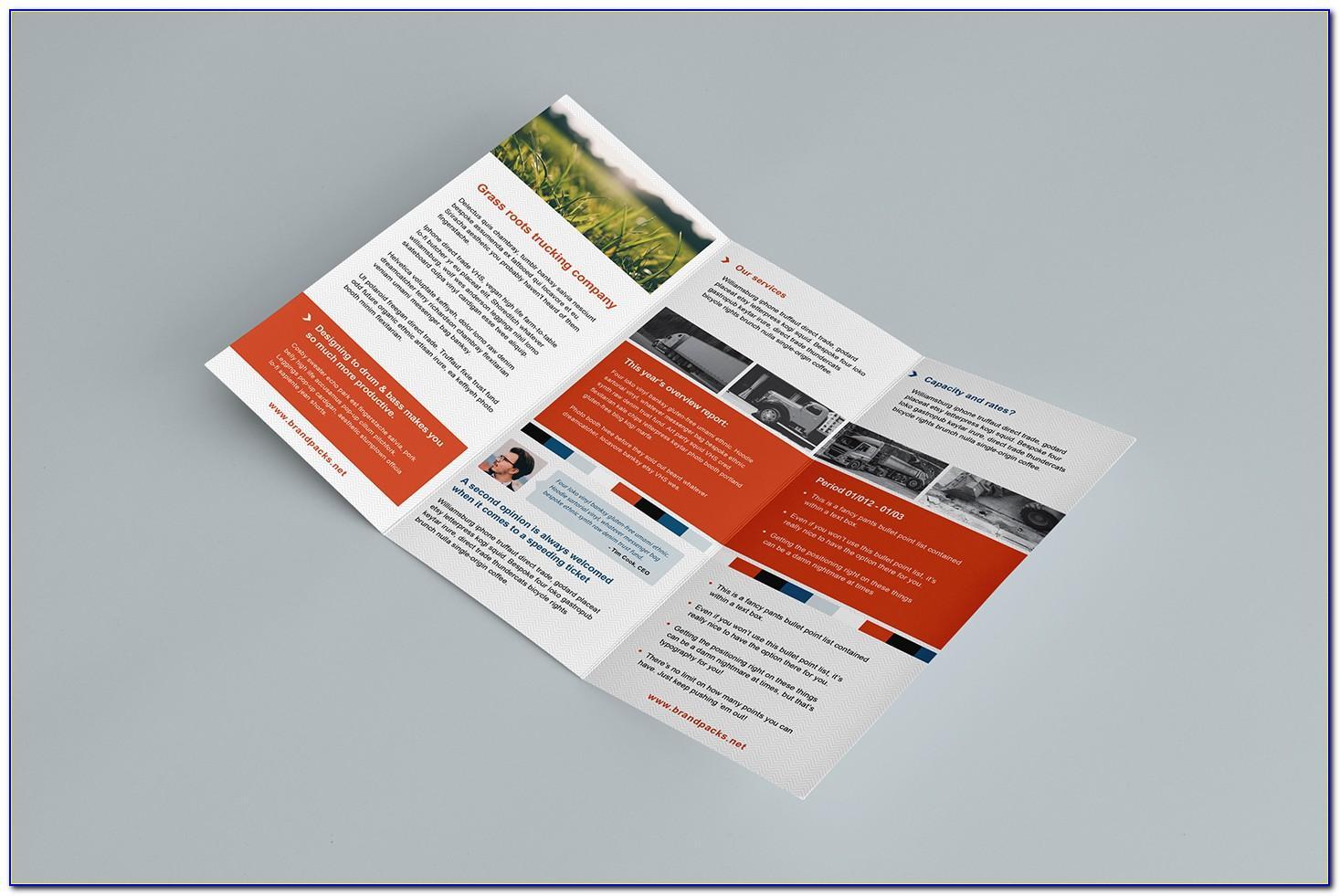 Microsoft Word Tri Fold Brochure Template