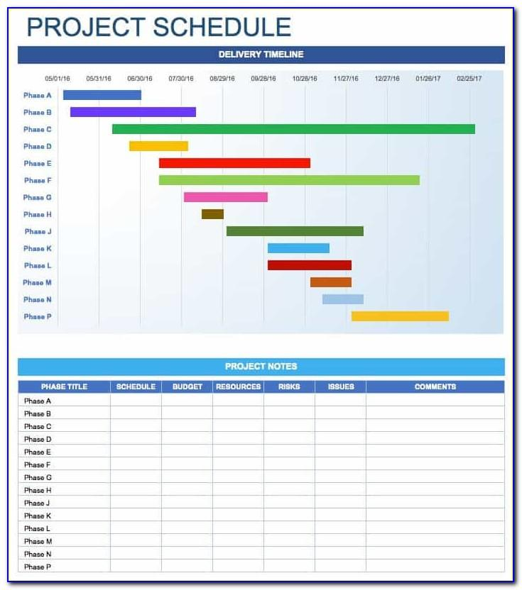 Monthly Task Scheduler Excel Template