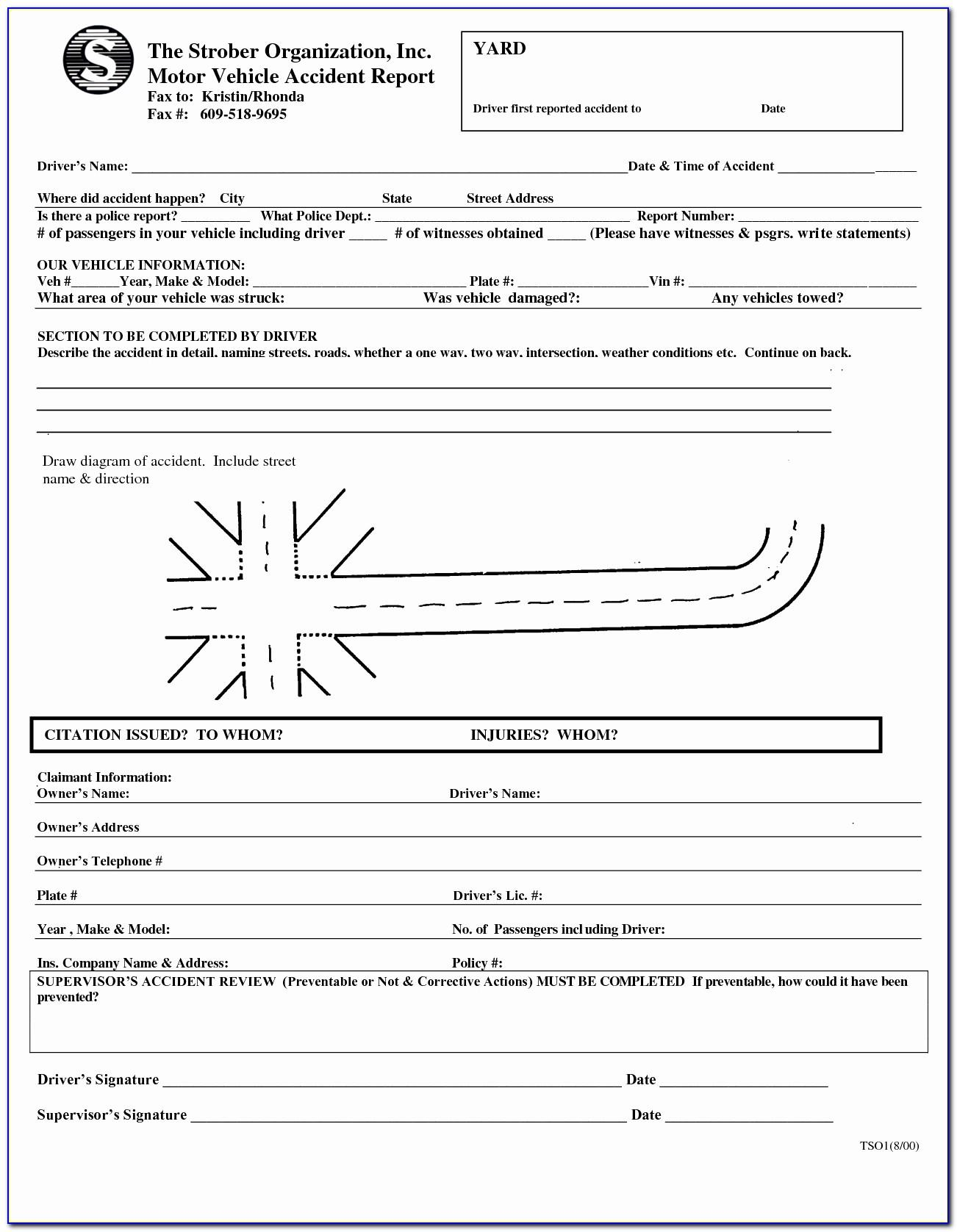 Motor Vehicle Incident Report Form
