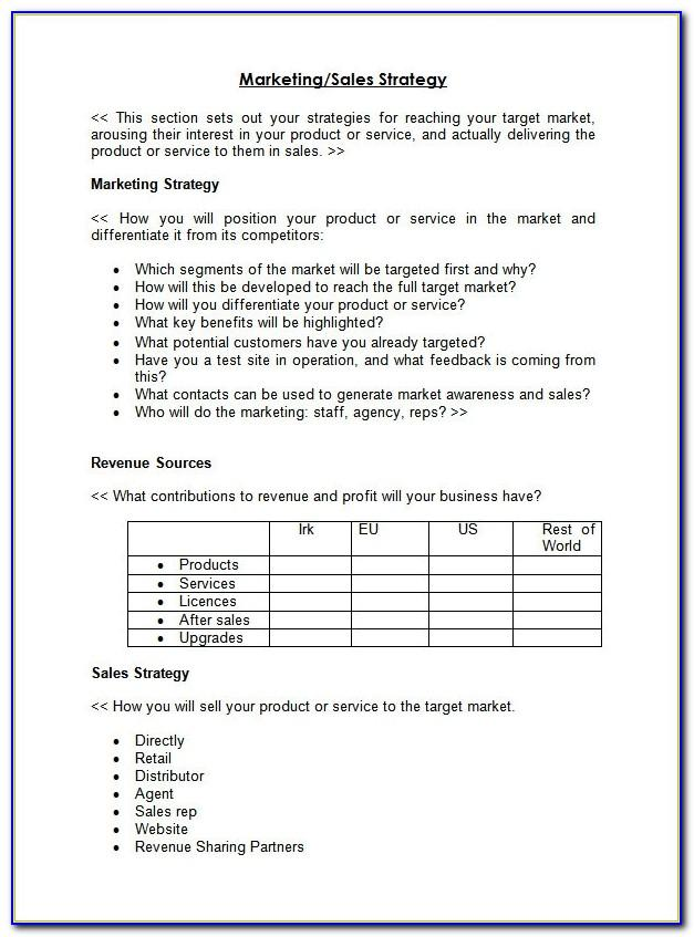 New Territory Sales Plan Template