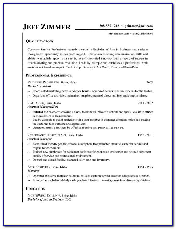 Objective Examples For Customer Service Resume