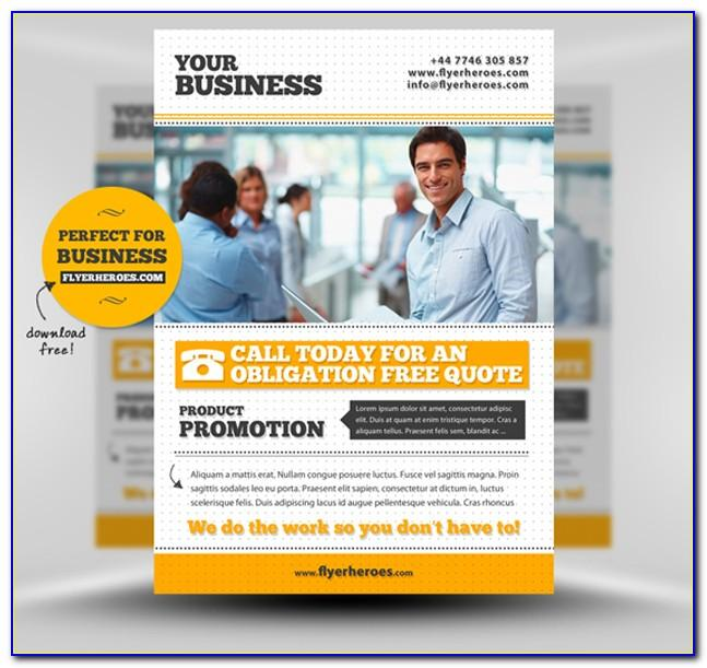Photoshop Templates For Business Flyers
