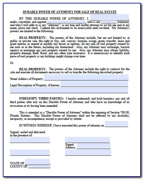Power Of Attorney Form For Real Estate Transaction In California