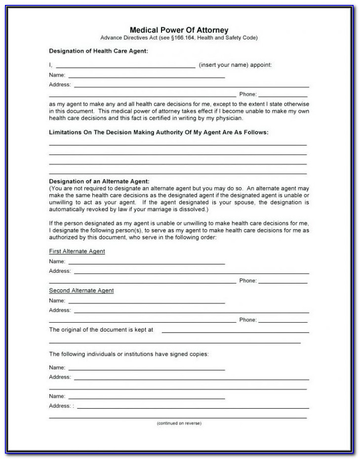 Power Of Attorney Template For Property Management