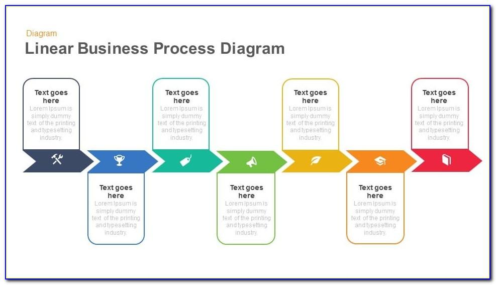 Process Flow Diagram Infographic Template For Powerpoint