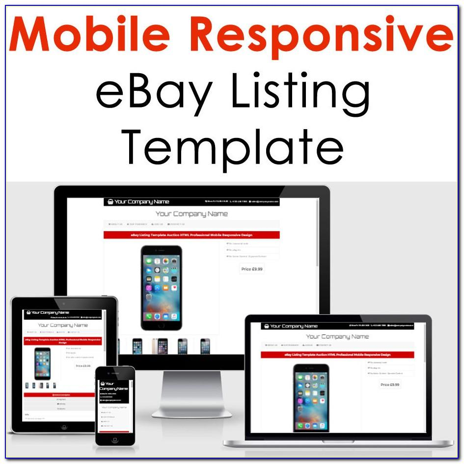 Product Listing Template For Ebay