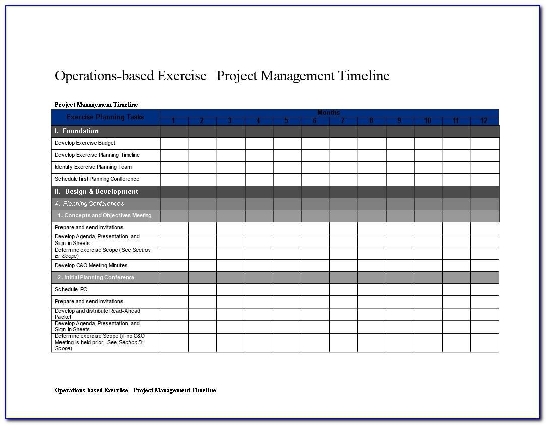 Project Timeline Schedule Template Excel