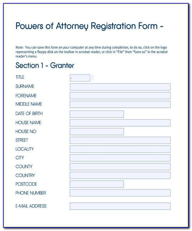 Registration Form For Power Of Attorney Scotland