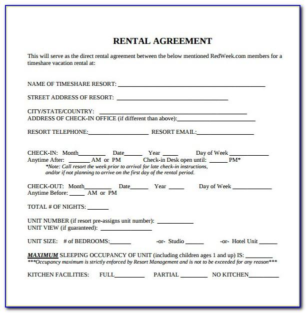 Rent Contract Agreement Form