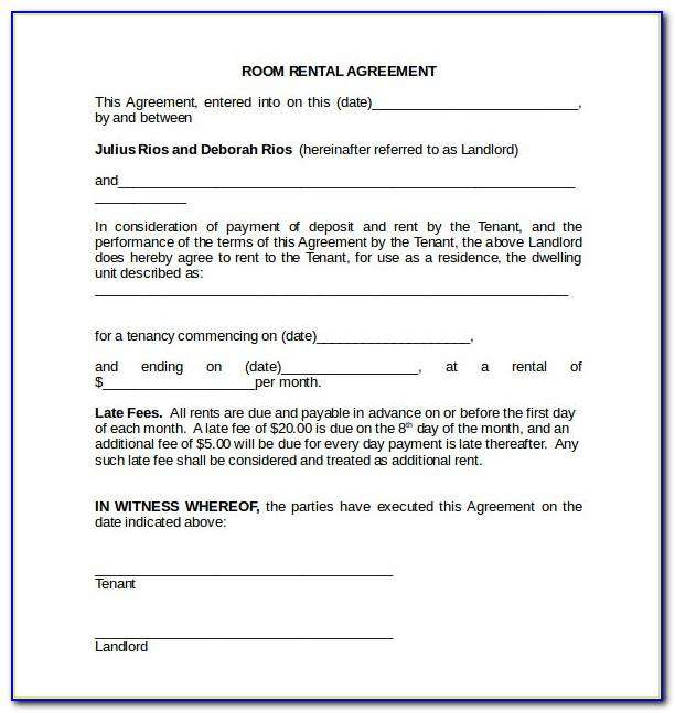 Rental Agreement Template Doc