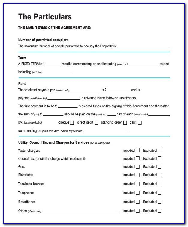 Rental Contract Template Ireland