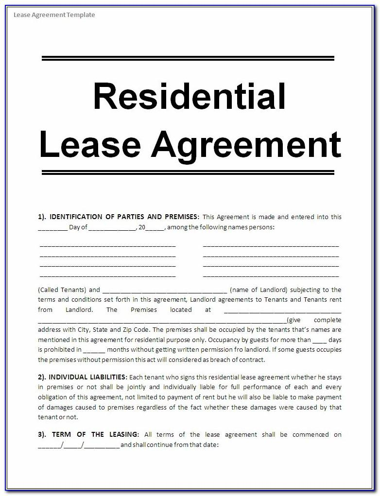 Rental Contract Template South Africa