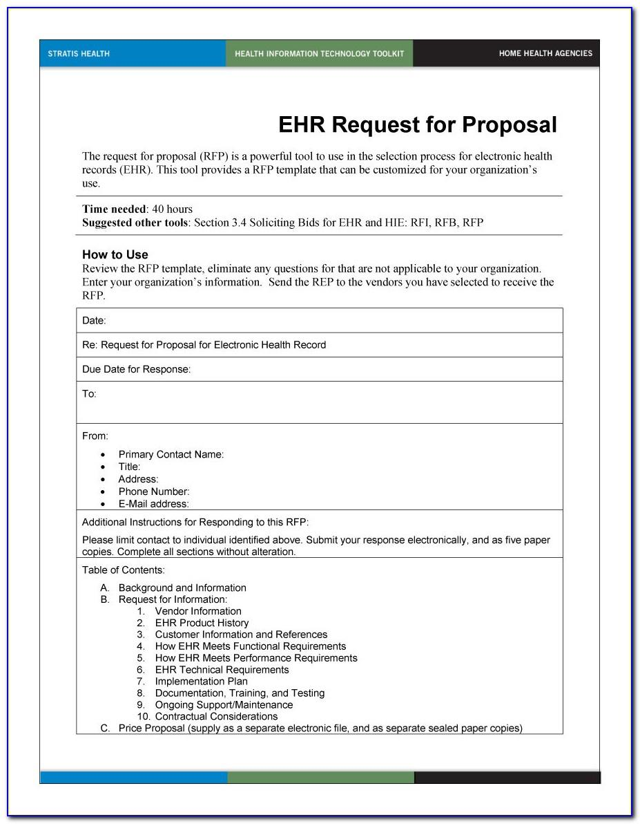 Request For Proposal (rfp) Template For Health Information Technology