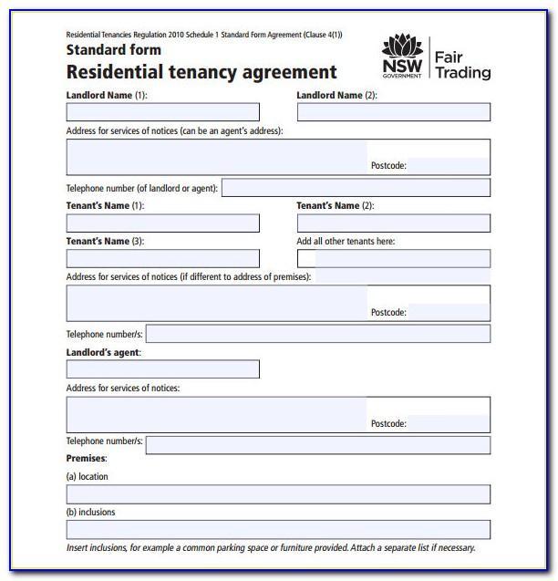 Residential Tenancy Agreement Template Tasmania
