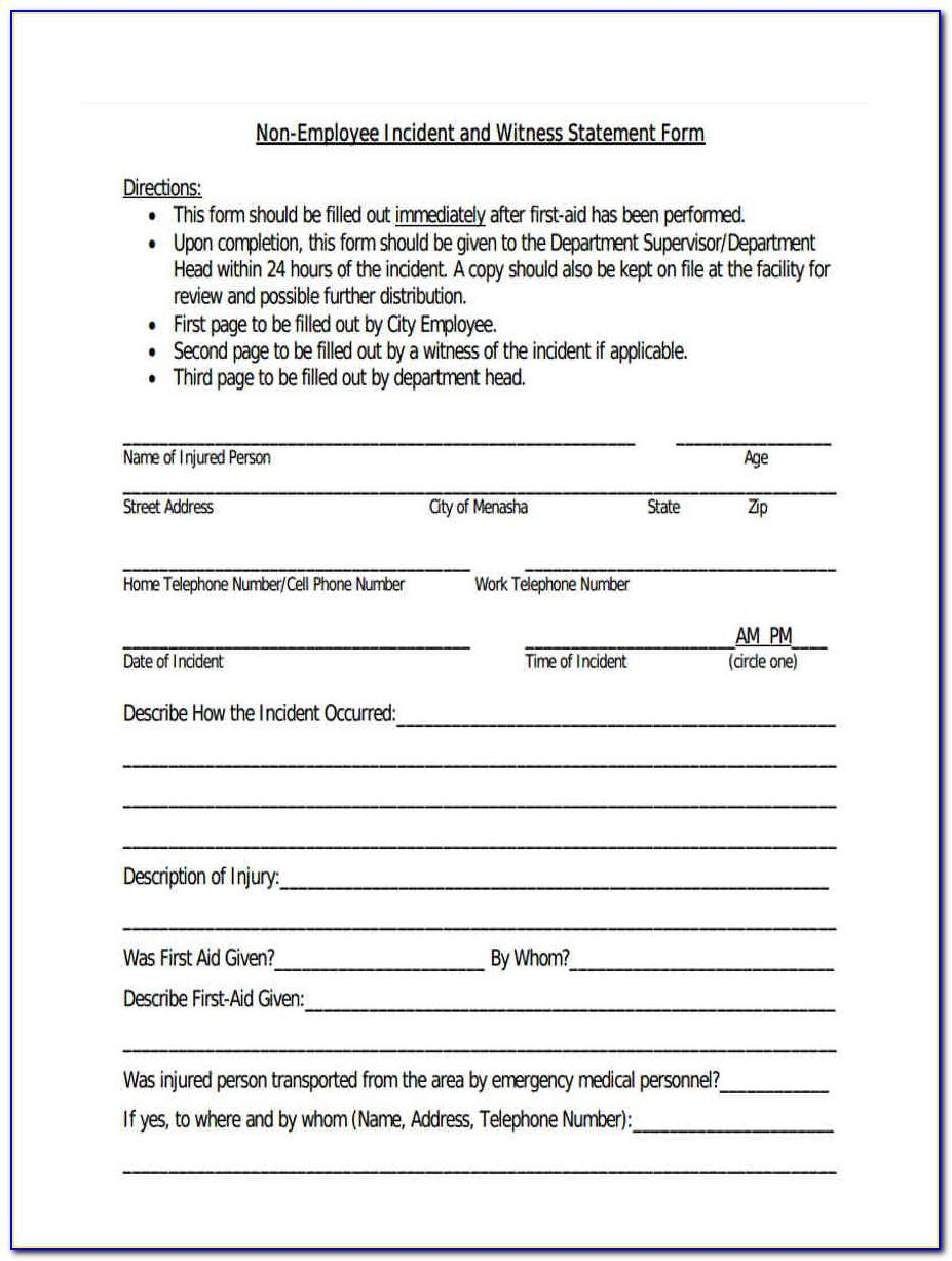 Road Accident Report Template
