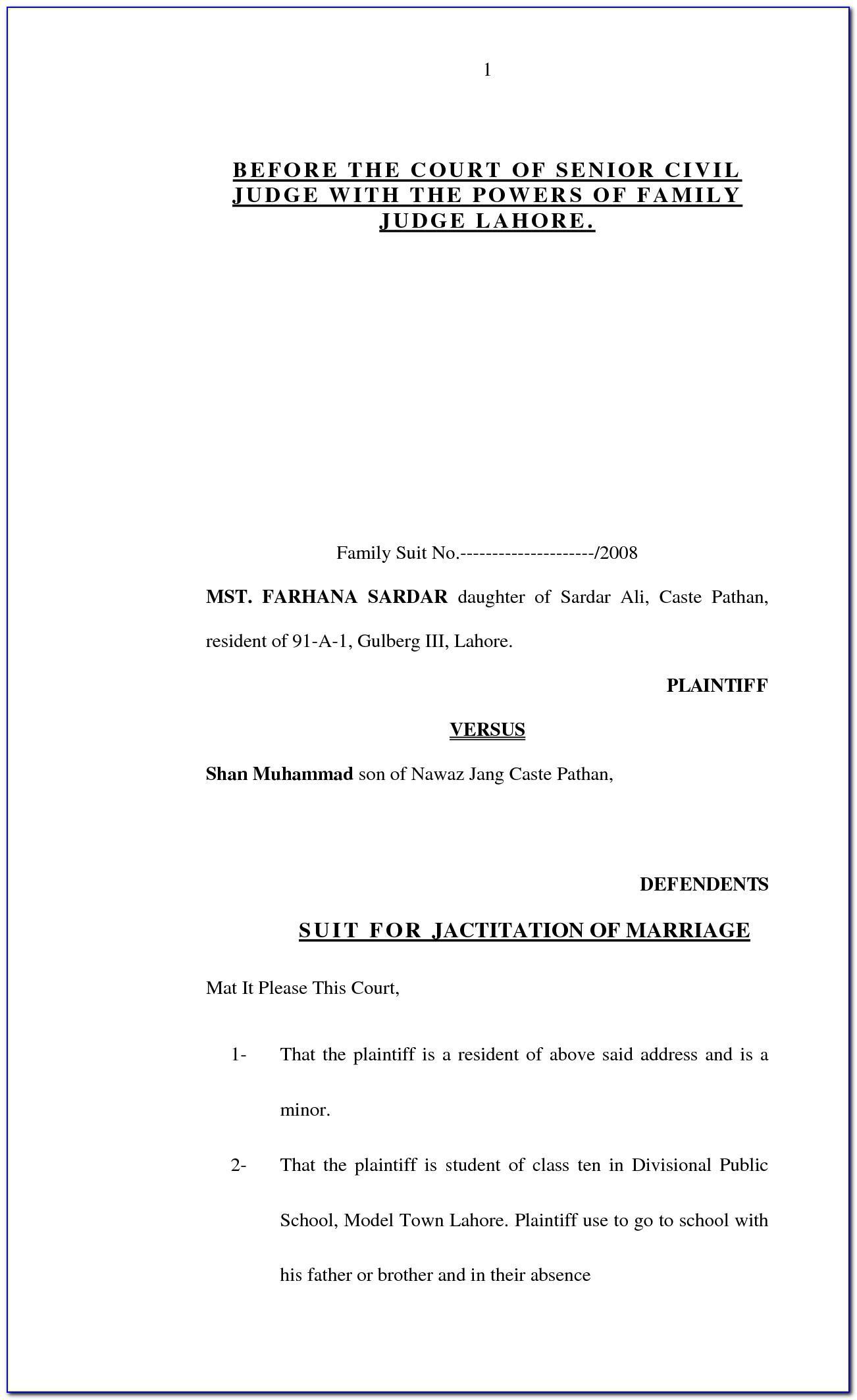 Sample Affidavit Of Bona Fide Marriage Letter For Immigration