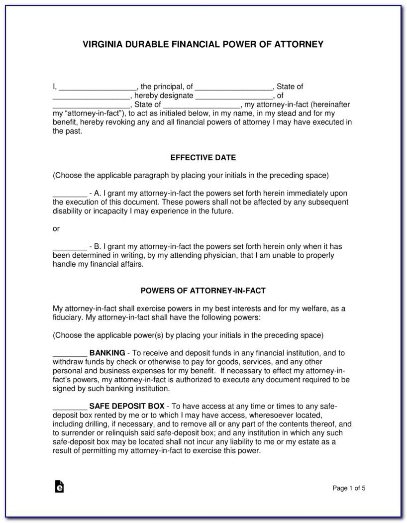 Sample California Durable Power Of Attorney Form