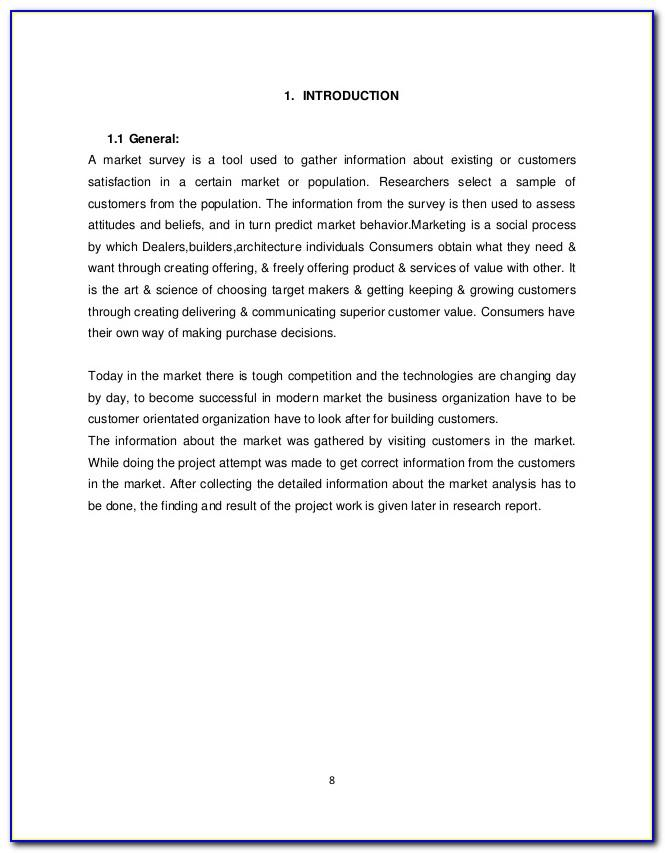 Sample Customer Satisfaction Survey Introduction