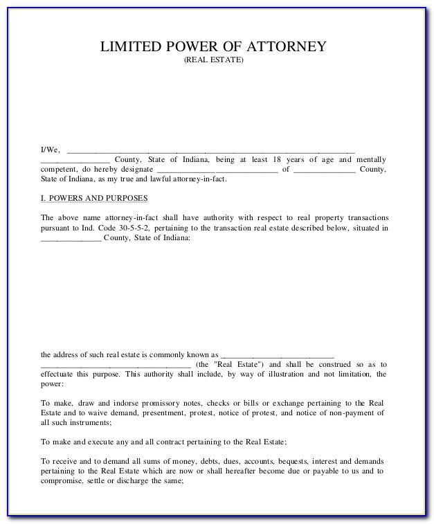 Sample Power Of Attorney For Real Estate Transactions Philippines