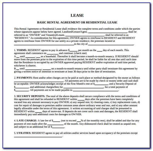Sample Residential Lease Agreement Maryland