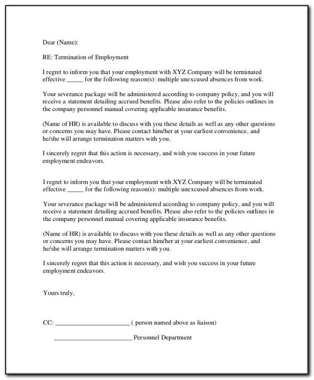 Sample Resignation Letter Constructive Discharge