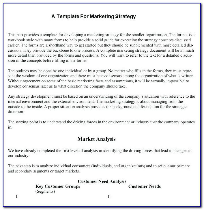 Sample Territory Sales Plan Template