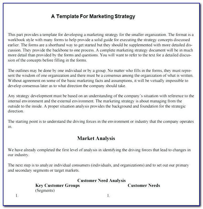 Sample Territory Sales Plan Template