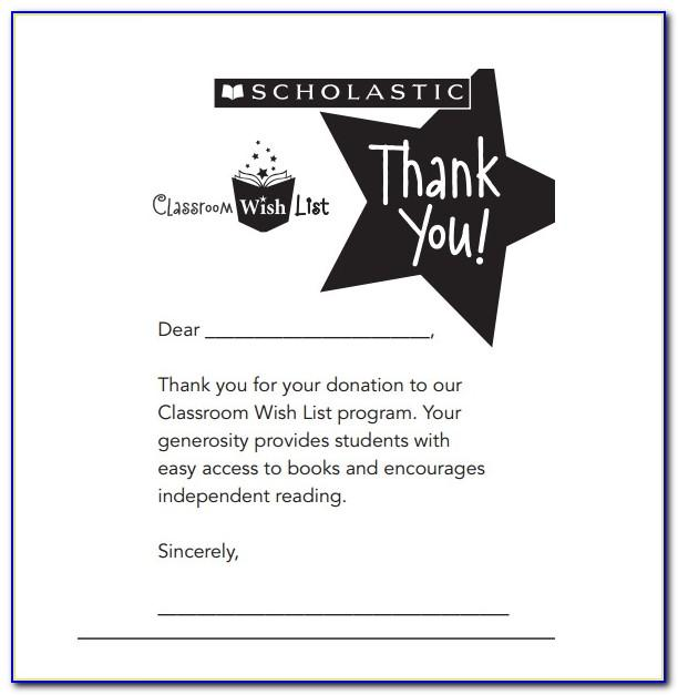 Sample Thank You Letter For Donation Template