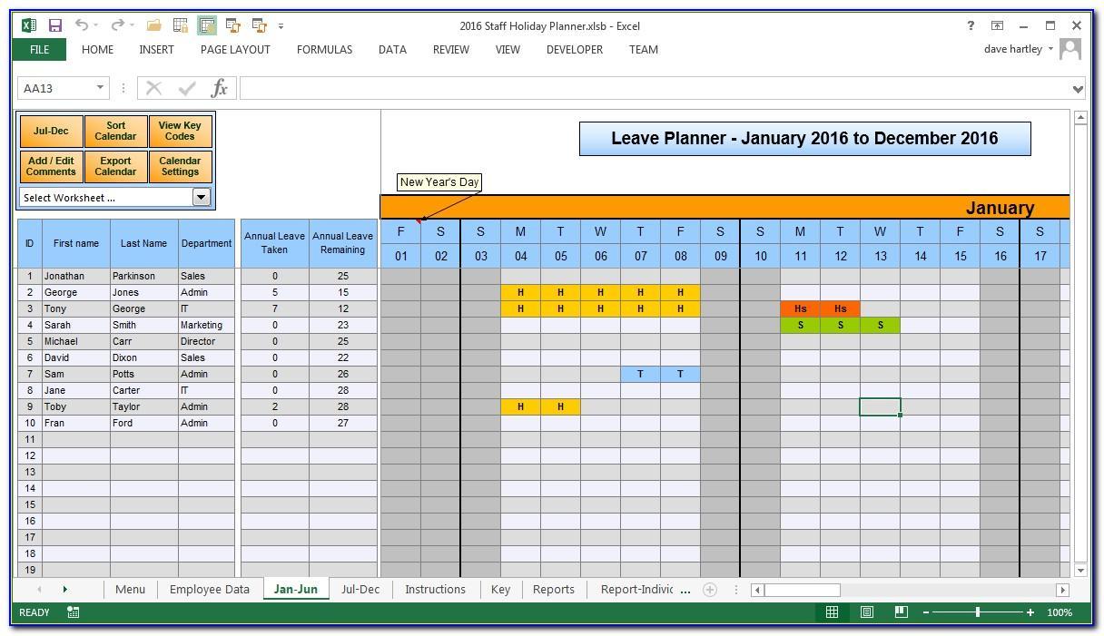 Schedule Template Excel 2016
