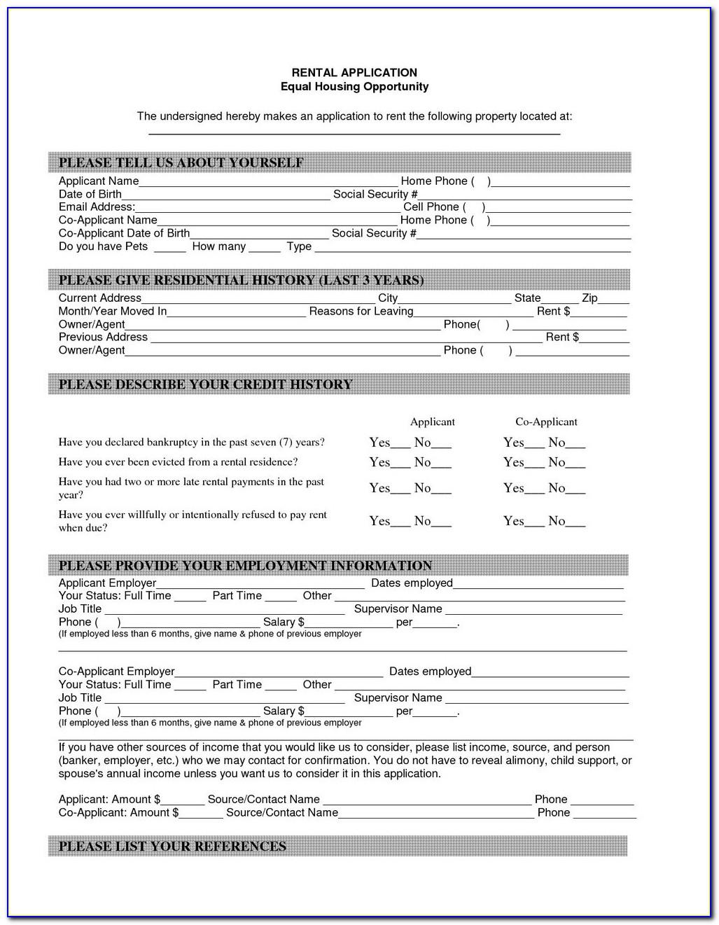 Simple Tenancy Agreement Template Pdf