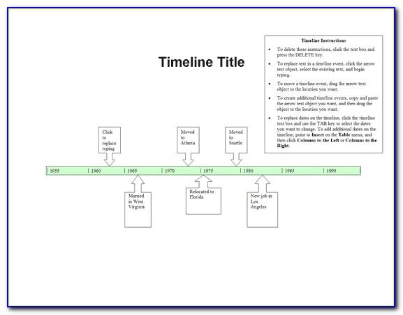 Simple Timeline Chart Template Word
