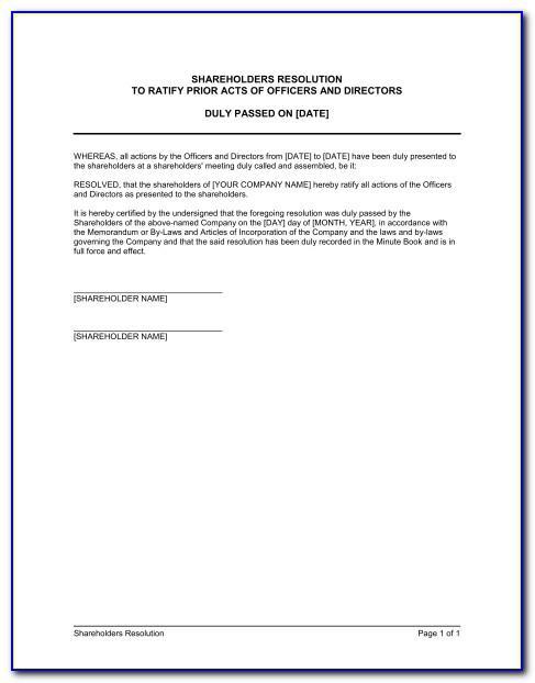 Standard Resignation Letter Template Pdf