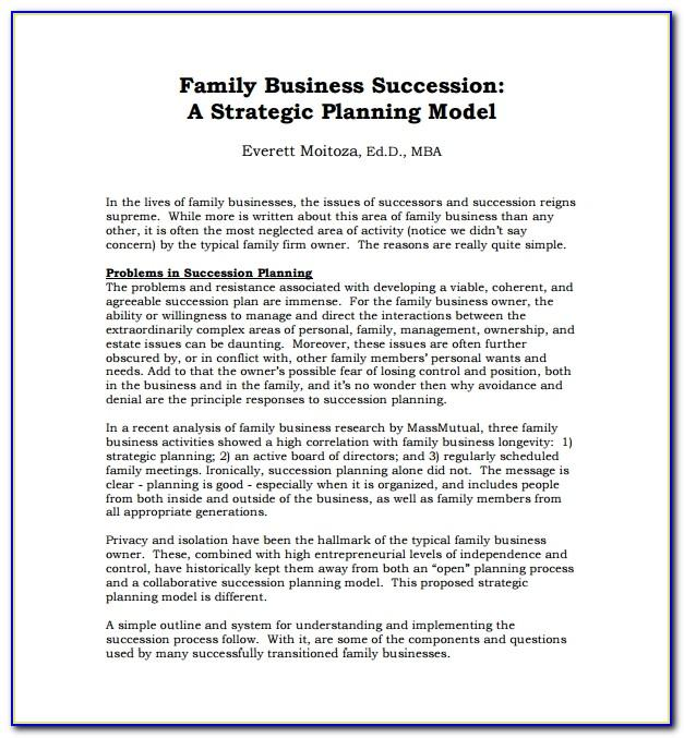 Succession Plan Template Excel Free