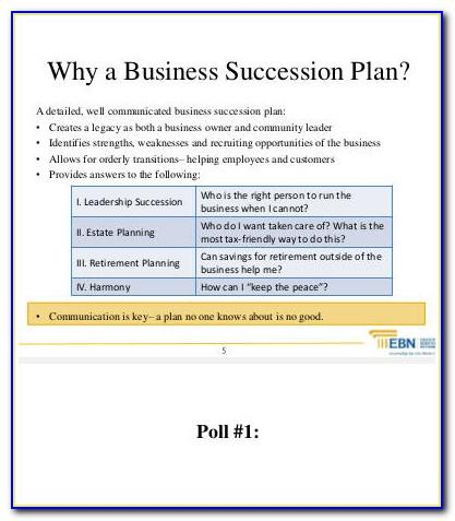Succession Plan Template For Banks