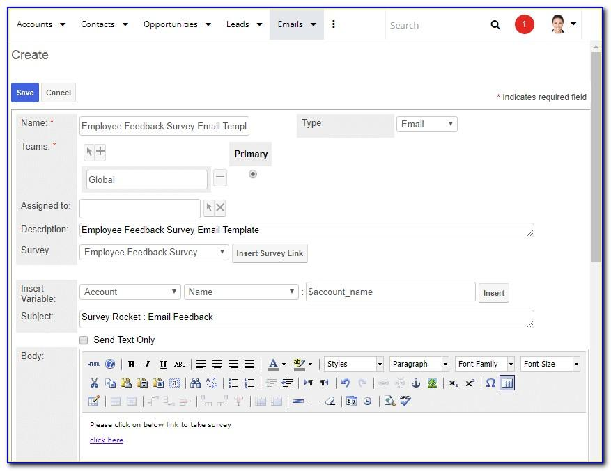 Sugarcrm Email Template Insert Image